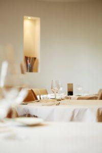 Gedekte restauranttafel