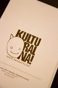 Voorkant van het menu in Cafe Kulturalna in Warschau
