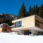 Houten bungalow van Gradonna Resort in Oost-Tirol