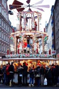 Kraam op de kerstmarkt in Düsseldorf
