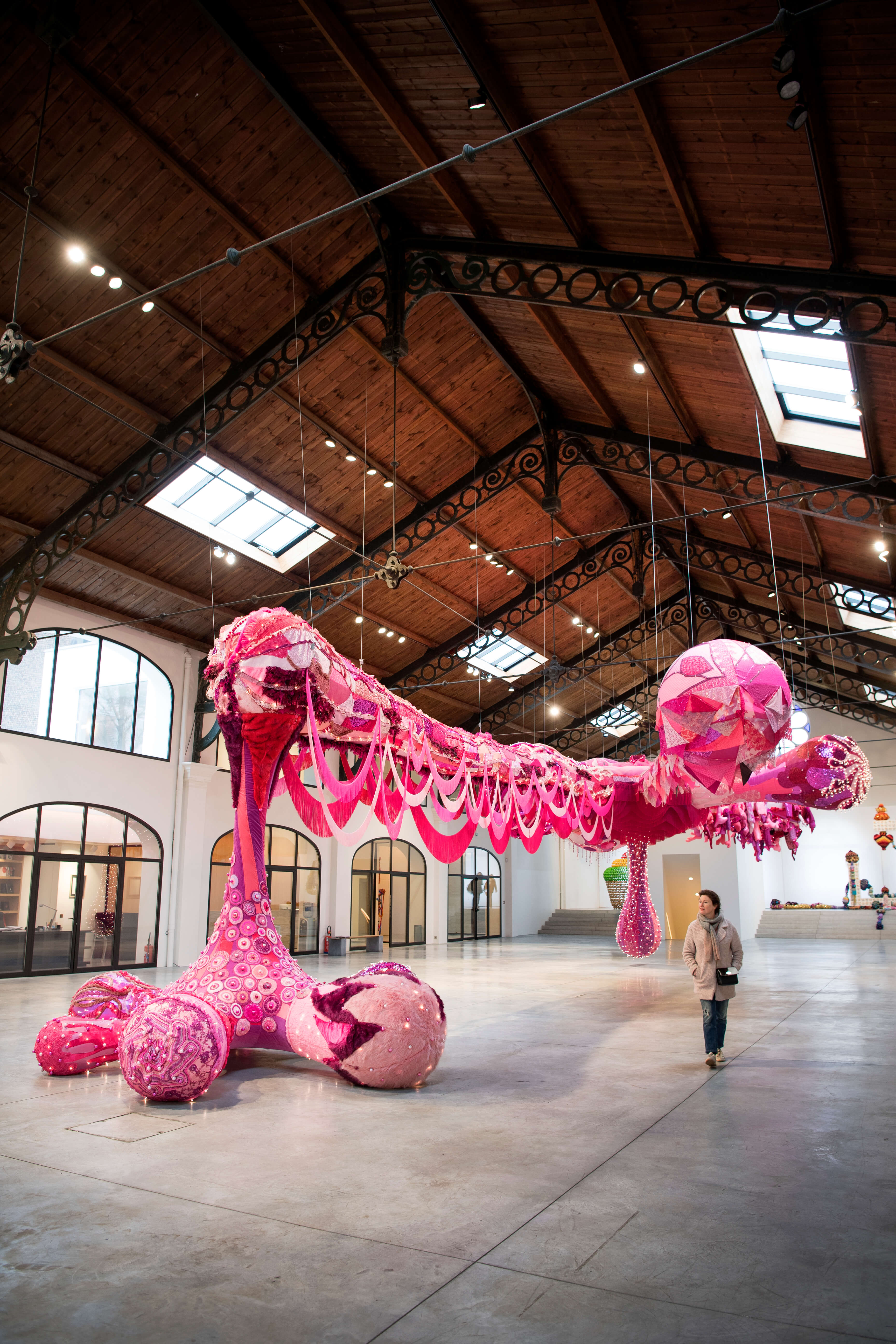 Kunstwerk van Joana Vasconcelos in de Galerij Valerie Bach in Brussel