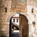 Ingang van het klooster van Sint-Naum rond Ohrid in Macedonië