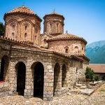 Het klooster van Sint-Naum rond Ohrid in Macedonië