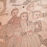 Mozaïek van een jachttafereel in Villa Romana del Casale