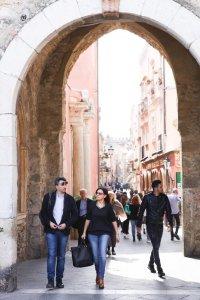Poort op Piazza IX Aprile
