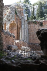 Romeinse ruïne in Taormina