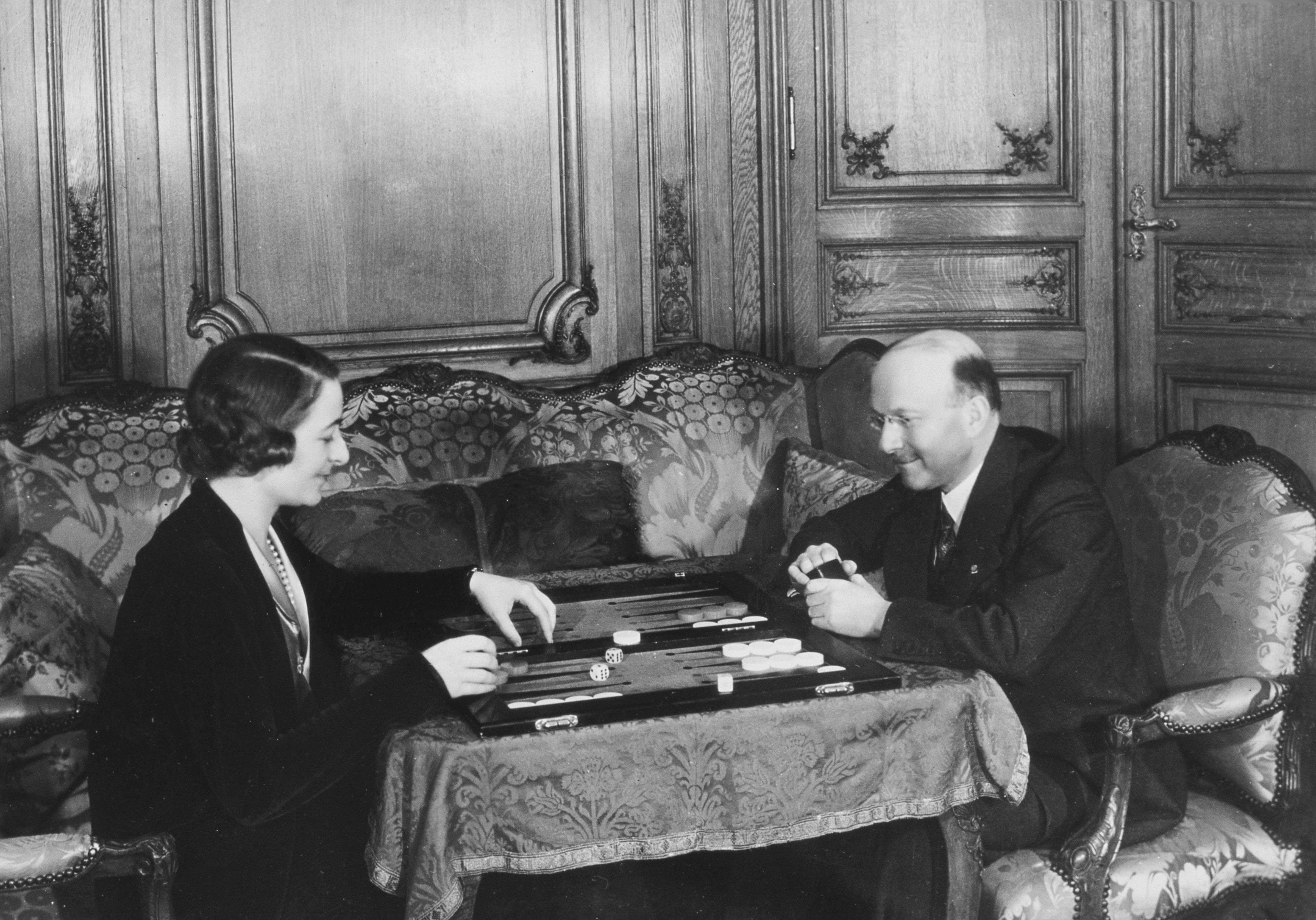 André Citroën en vrouw