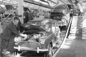 Mini Austin Seven fabriek