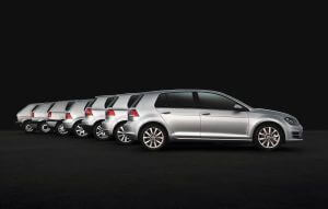 Volkwagen Golf 7 generaties