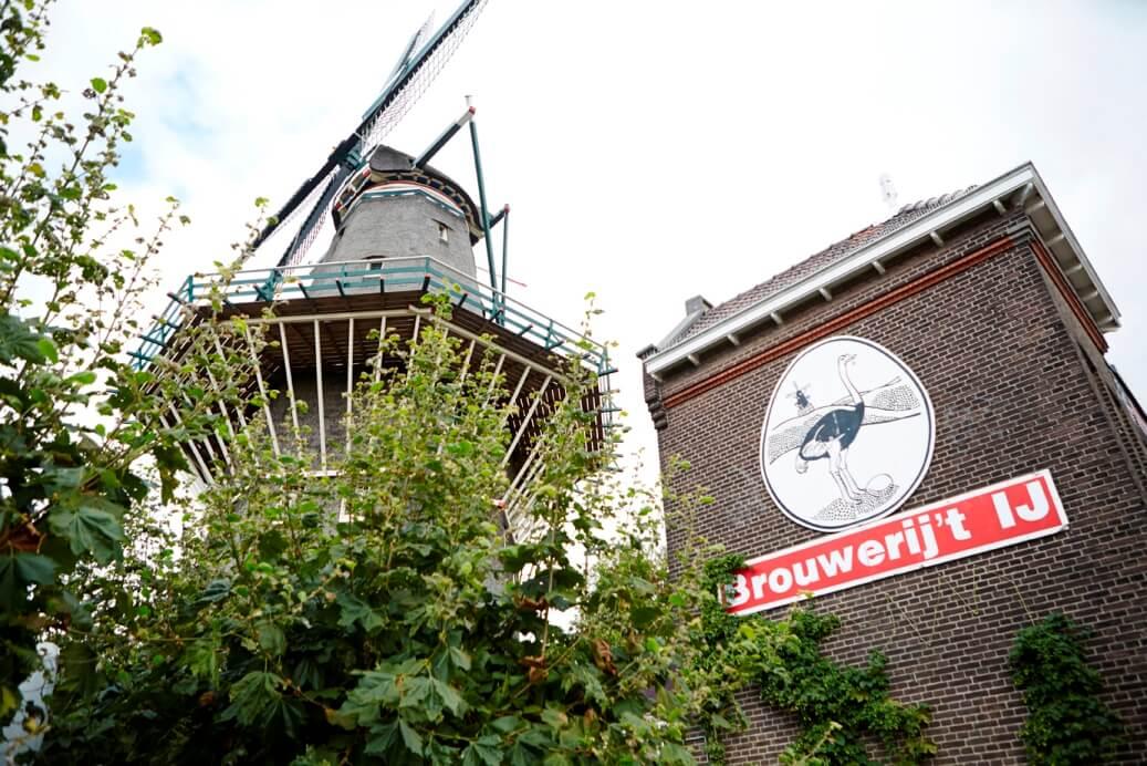 Brouwerij 't IJ en windmolen