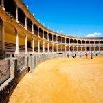 Arena voor stierengevechten met zand in Ronda, Andalusië