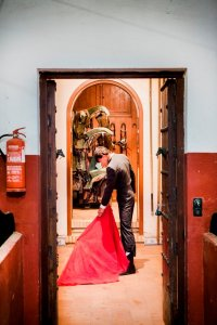 Matador met rode doek