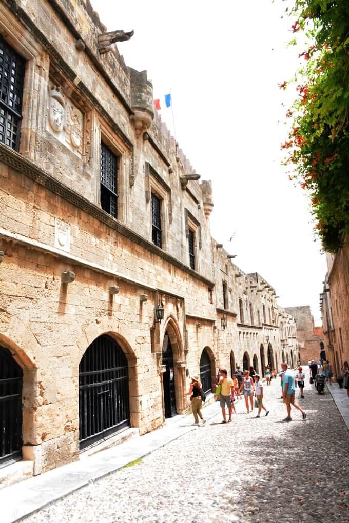 Ridderstraat in het historische centrum van Rhodos