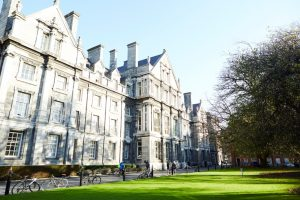 Gevel van Trinity College in Dublin
