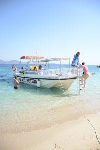 Glasbodemboot op Zakynthos