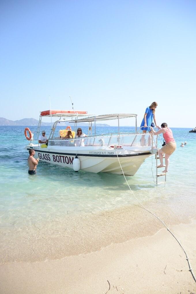 Uitzicht strand Zakynthos