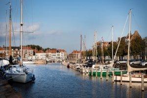 Uitzicht op de haven van Middelburg