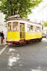 Oude tram in Lissabon