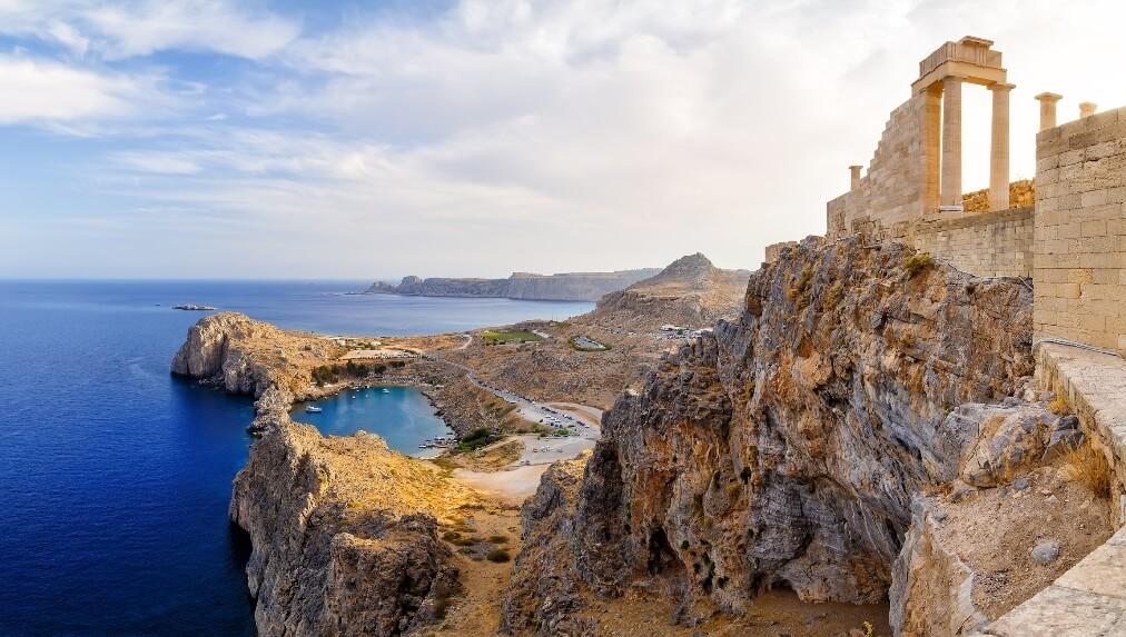 Uitzicht Rhodos, Griekenland
