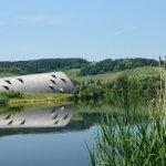 Uitzicht op Biodiversum aan de Moezel in Luxemburg