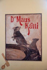 Tekening van twee muizen in Maus Kätti in Luxemburg