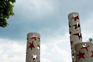 Monument met sterren in Schengen, Luxemburg