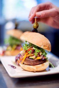 Hamburger met groentjes