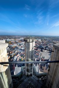 Uitzicht over Mechelen vanop de Sint-Romboutstoren