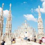 Dakterras van de Duomo van Milaan