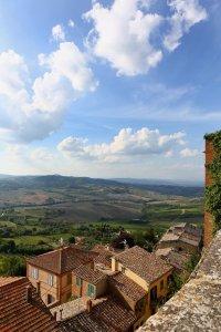 Uitzicht op het hoogste punt van Toscane, in Montepulciano
