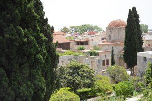 Uitzicht vanop de stadswallen van Rhodos
