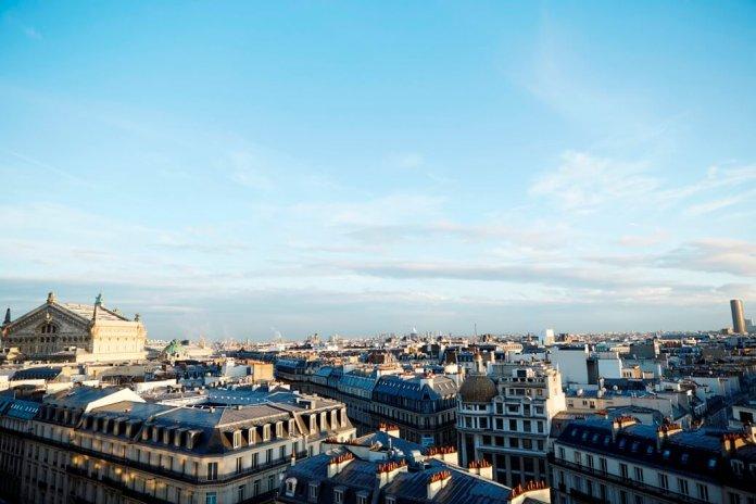 Uitzicht op de stad Parijs