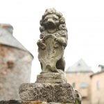 Leeuwenbeeldje op de muur van Kasteel Reinhardstein
