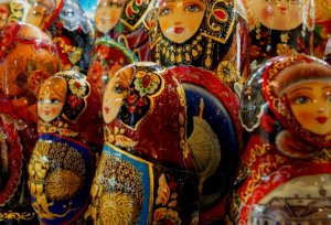Closeup van matroesjkapoppen
