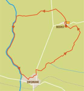 Wandelroute Diksmuide kaart
