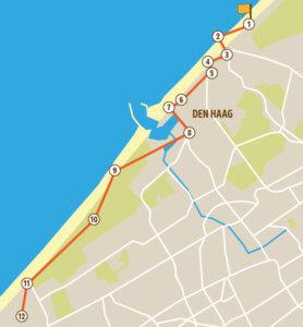 Wandelroute Den Haag kaart