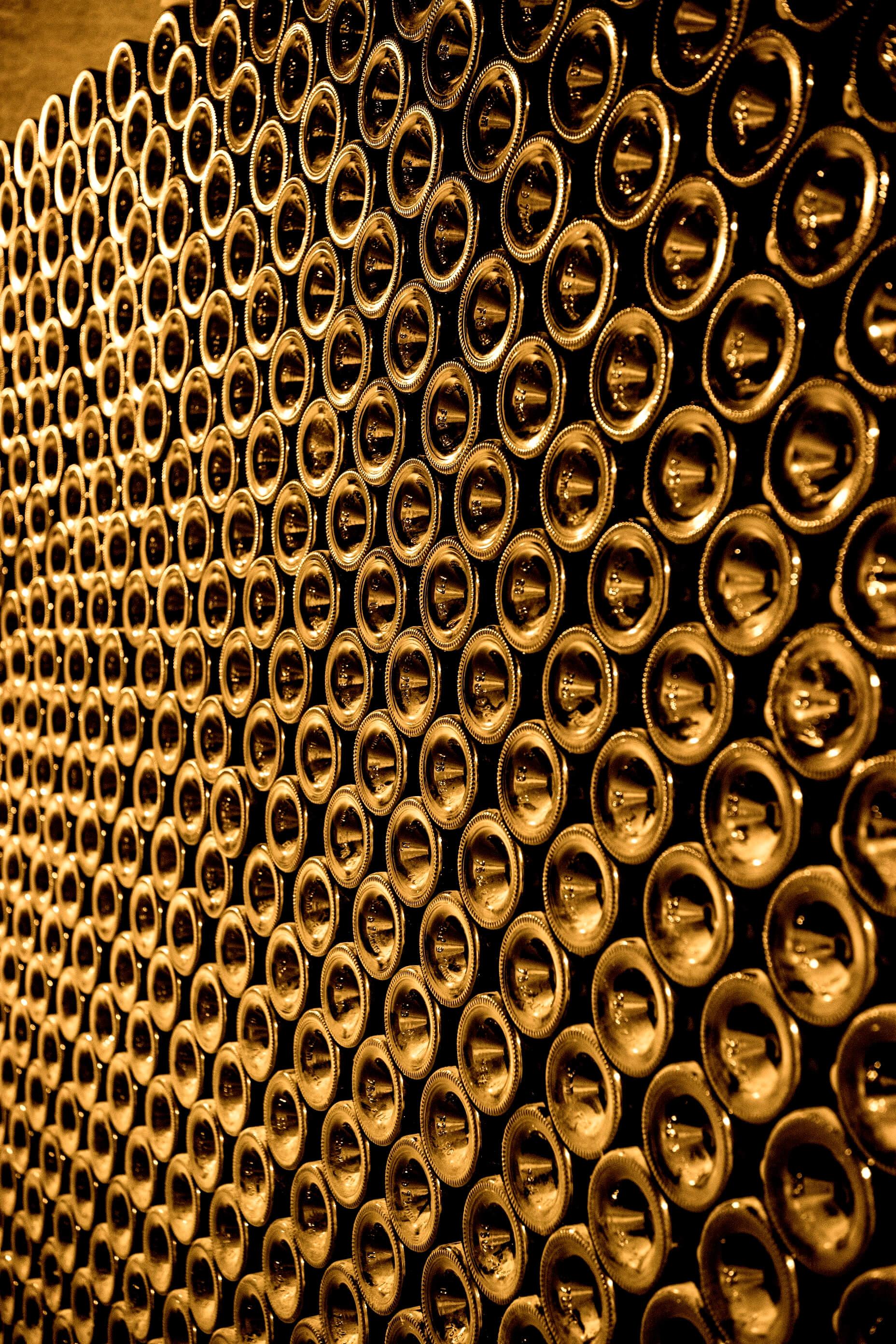 Champagne flessen