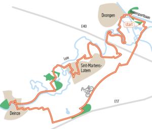 Fietsroute Oost-Vlaanderen