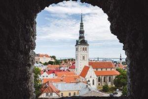 Tallinn zicht vanuit Kiek in de Kök