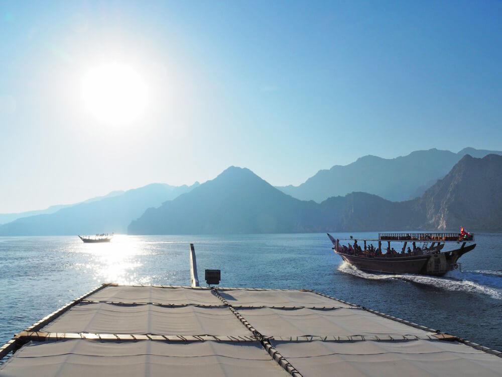 De kust van Oman