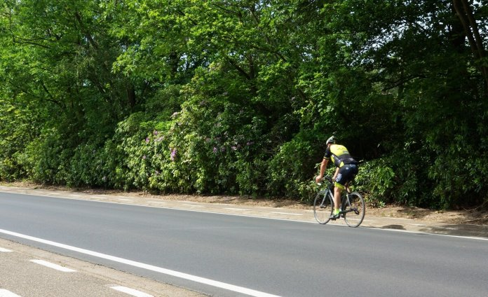 fietsers op de rijbaan