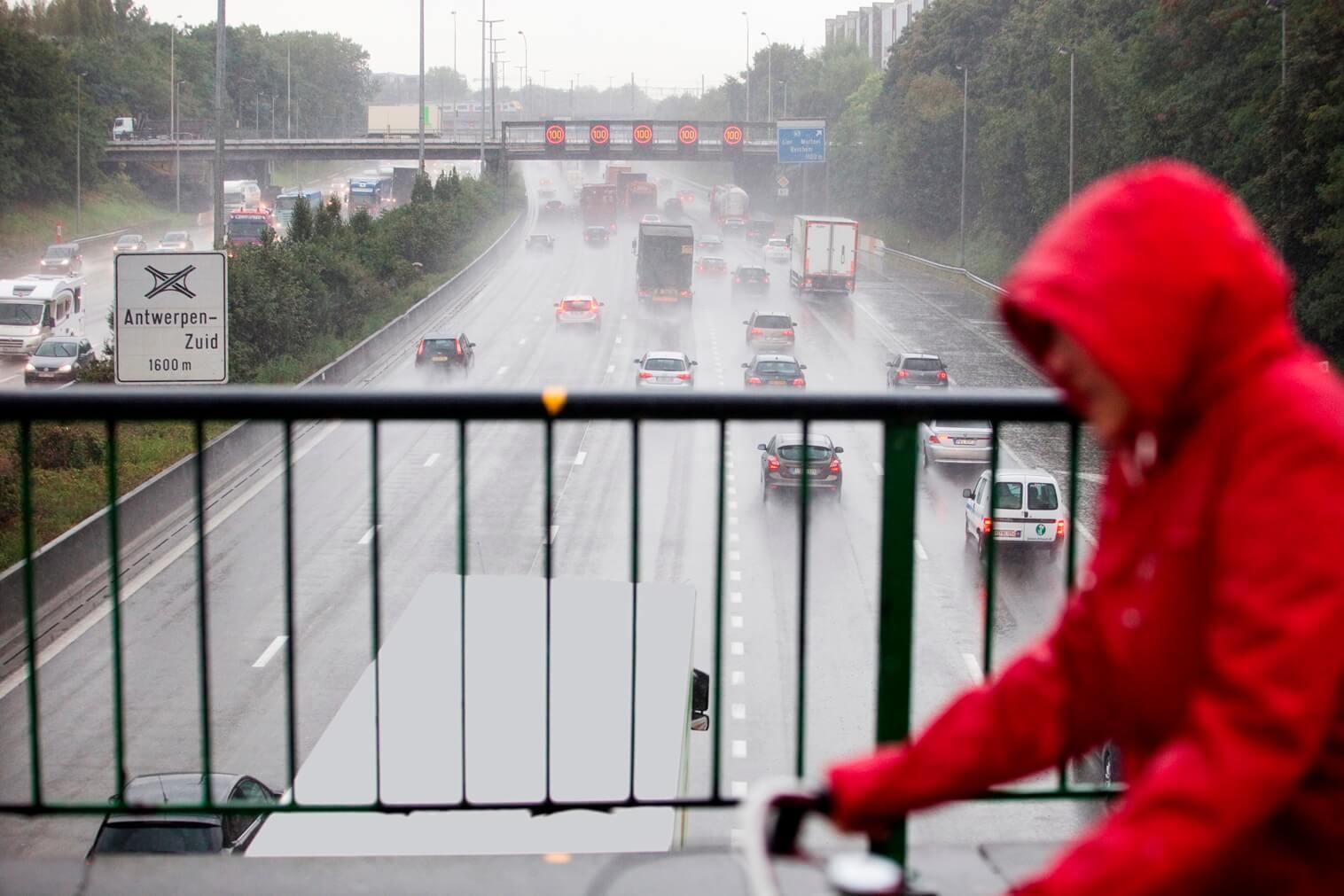 Slippertje bij regenweer