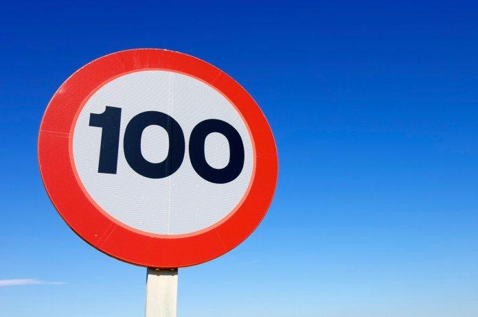 100 km/u