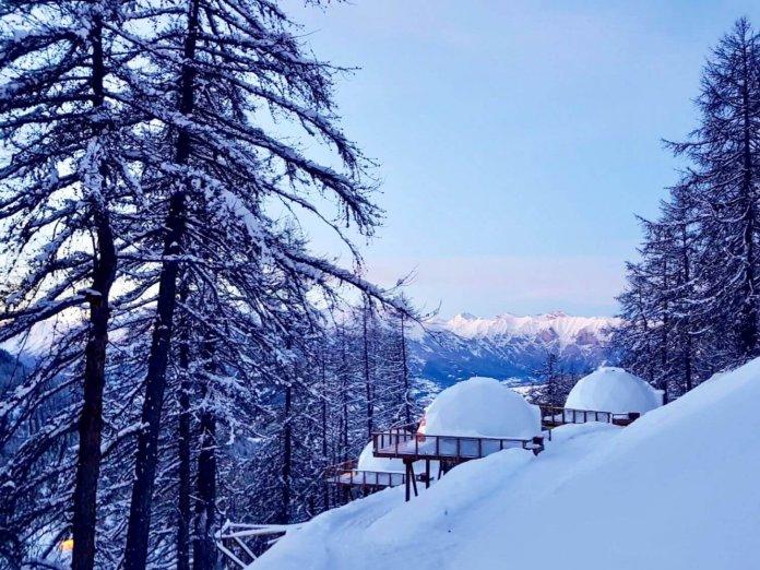 Cocoonen in een iglo in de Franse Alpen Les Orres