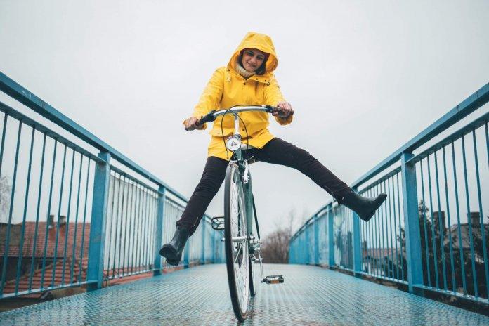 fietsen door regen