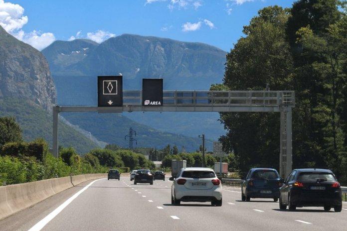 witte ruit Frankrijk snelweg